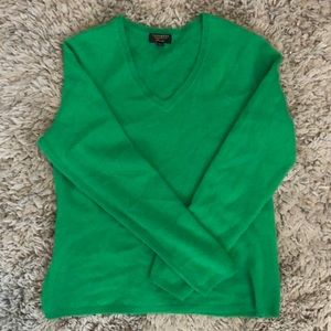 Charter club green cashmere sweater